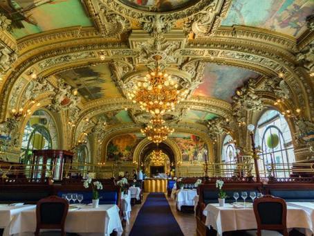 Le Train Bleu restaurant at the Gare de Lyon train station in Paris