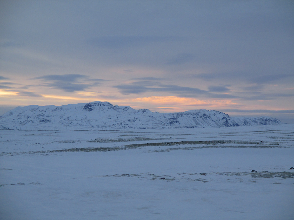 Iceland scenery in snow