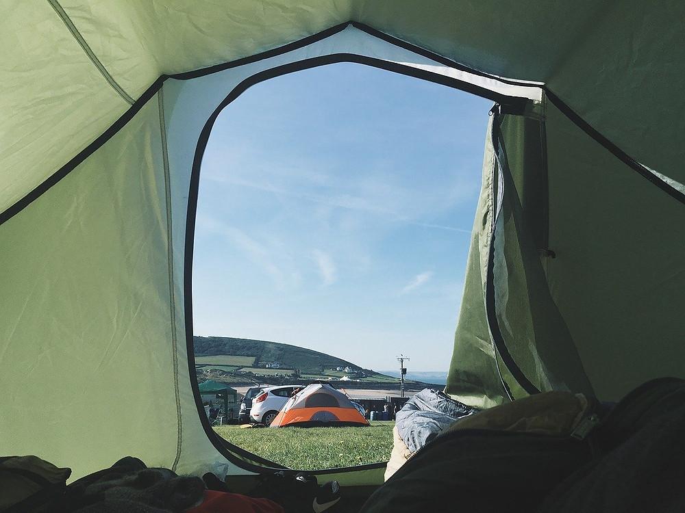Tent on campsite