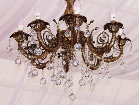 French glass chandeliers