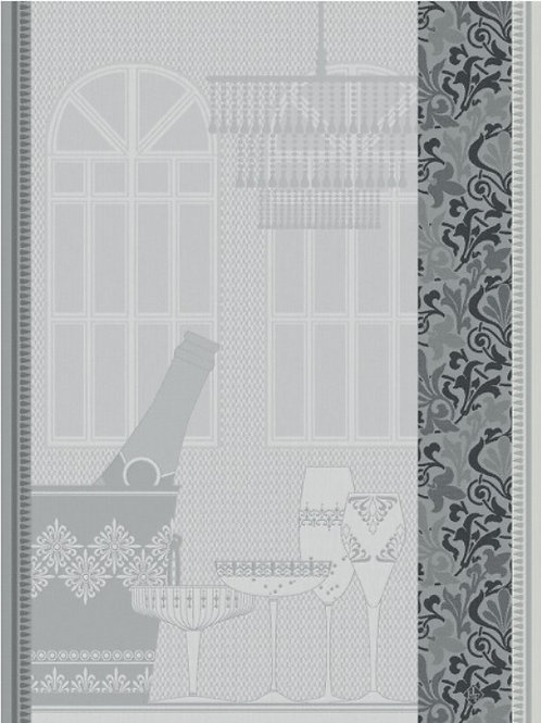Champagne bar atmosphere 100% cotton French tea towel