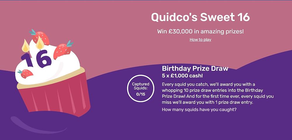 Quidco's Sweet 16