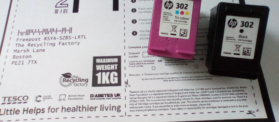Earn Tesco Clubcard points by recycling used ink cartridges