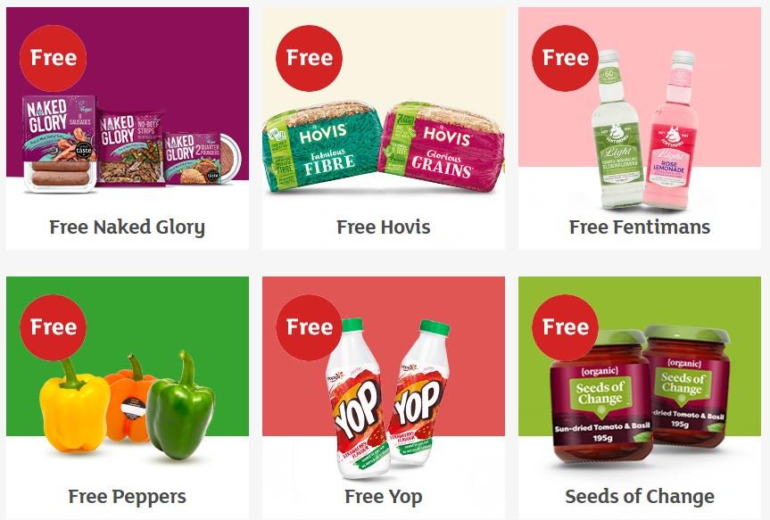 Freebies from Sainsburys online store