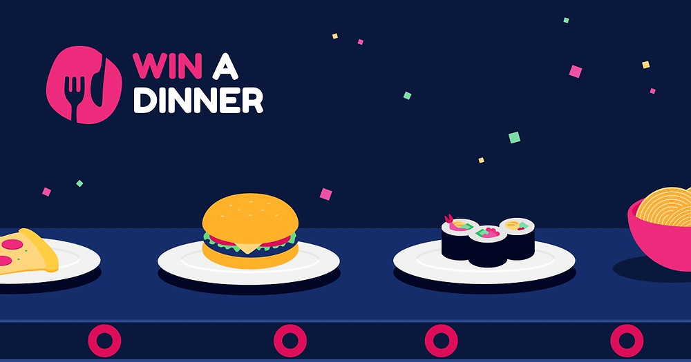 Win a Dinner daily prize draw