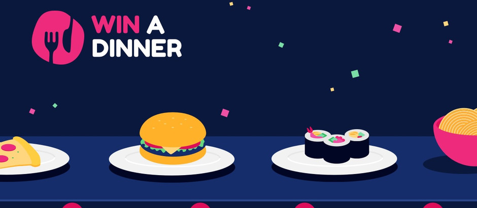 Win a Dinner, free daily prize draw