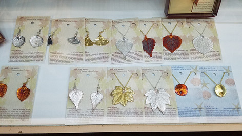 Real Leaf Jewelry Gold Silver Copper