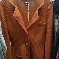 Rust colored cardigan