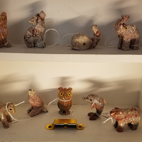 Hand carved Stone Animal Figures