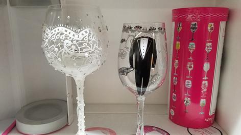 Bride N Groom Wine Glasses