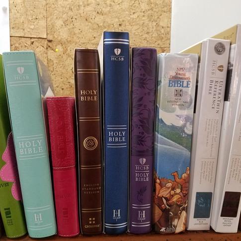 Bibles....