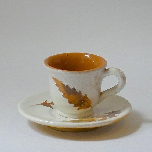 Tazzina caffè a campana e piattino tondo