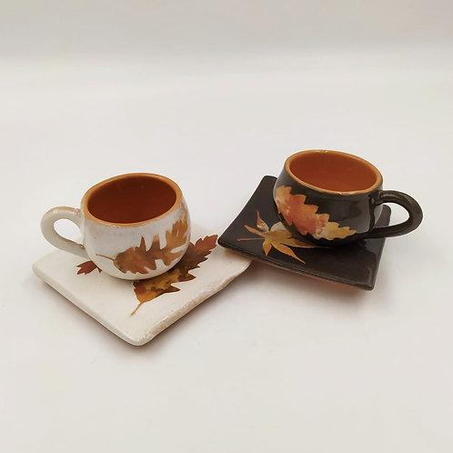 Tazzina caffè + piattino quadrato
