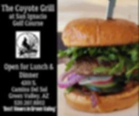 Coyote Grill Burger ad Visit Canoa.jpg