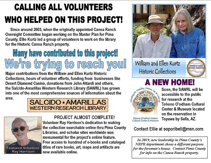 Calling volunteers Ellie's library 1 21.