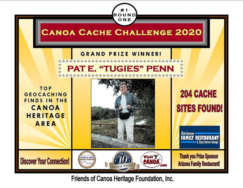 Canoa Cache Challenge Award Pat Tugies P