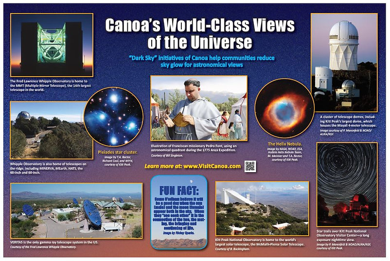 Observatories and astronomy, history of Canoa's dark skys.