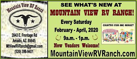 Mt View RV Ranch Country Market Feb apri