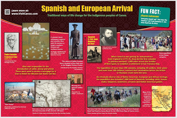 Spanish and European influence of Canoa.