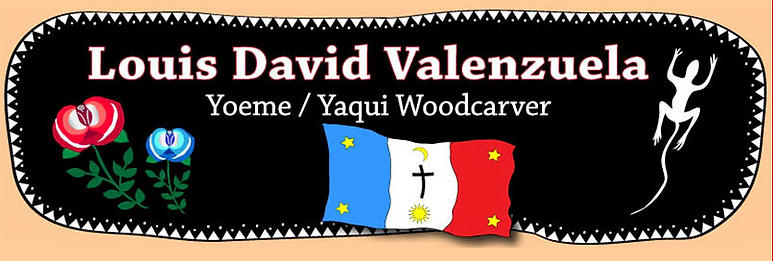 Louis David Valenzuela Yaqui Woodcarver.