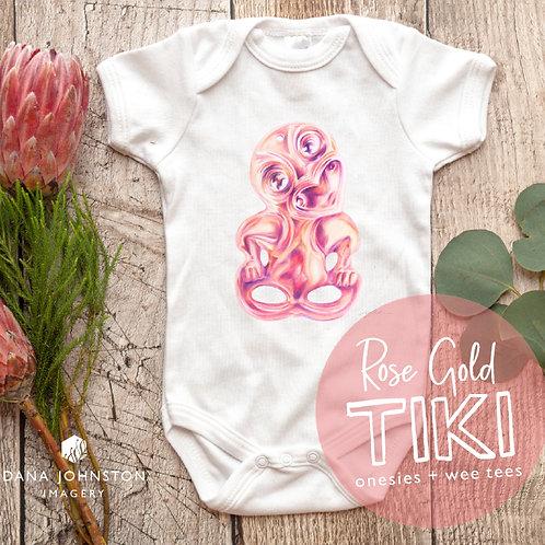 Rose Gold Tiki / Onesies + Wee Tees