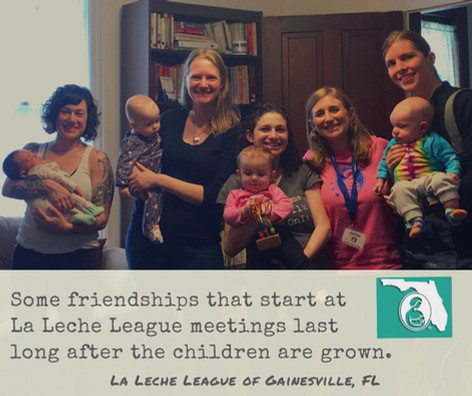 Some friendships that start at La Leche League meetings last long after the children are grown.