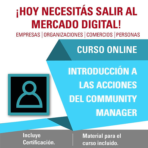 INTRODUCCIÓN A LAS ACCIONES DEL COMMUNITY MANAGER