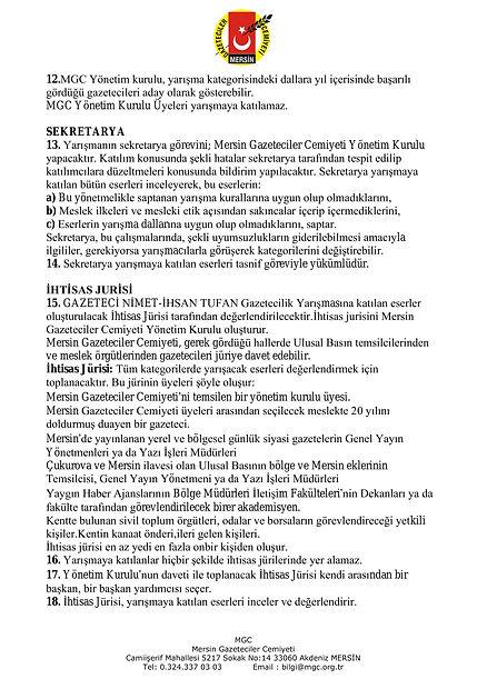 MGC GAZETECİLİK YARIŞMASI YÖNETMELİĞİ-3.
