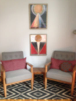 Office Chairs with Hilma af Klint Prints