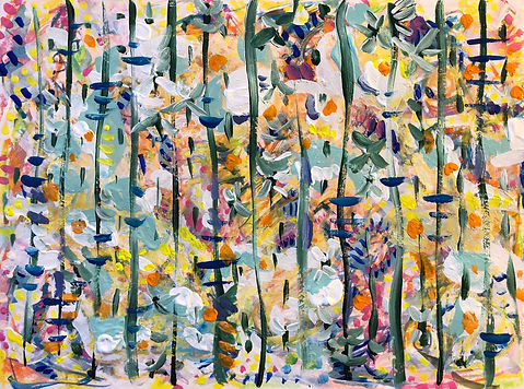 Autumn painting by Emily Arin Snider