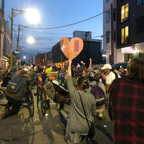 2020. Feeling the love at this peaceful protest for George Floyd and Black Lives Matter.