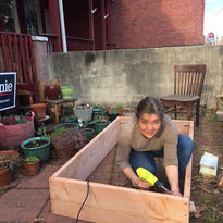 2020. Making some garden beds.