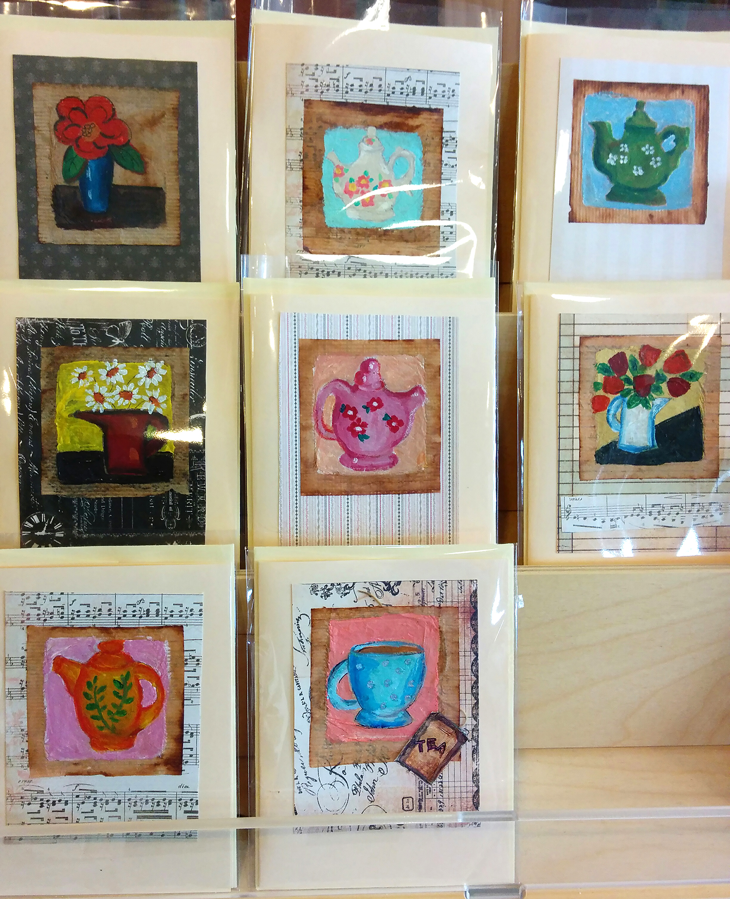 tea bag cards by Carol Vasenko