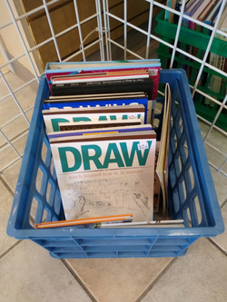 gently used art books and supplies
