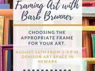 """Art of Framing"" - free workshop"