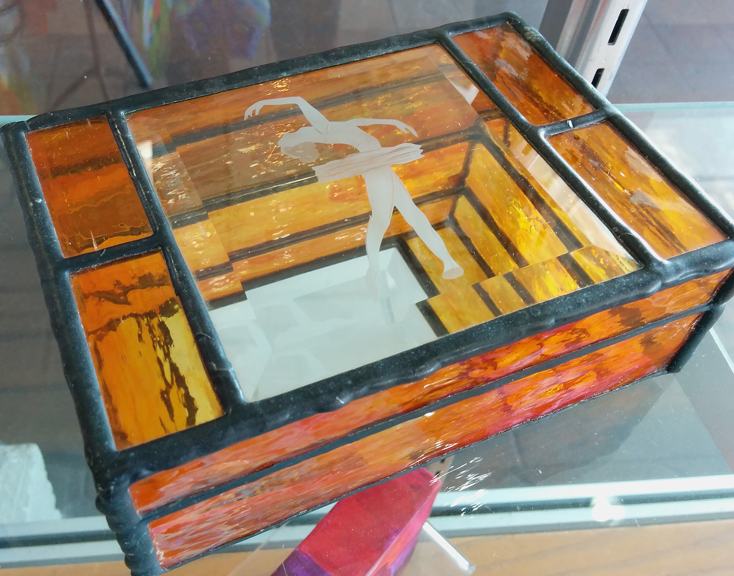stained glass box by Chuck Borsari