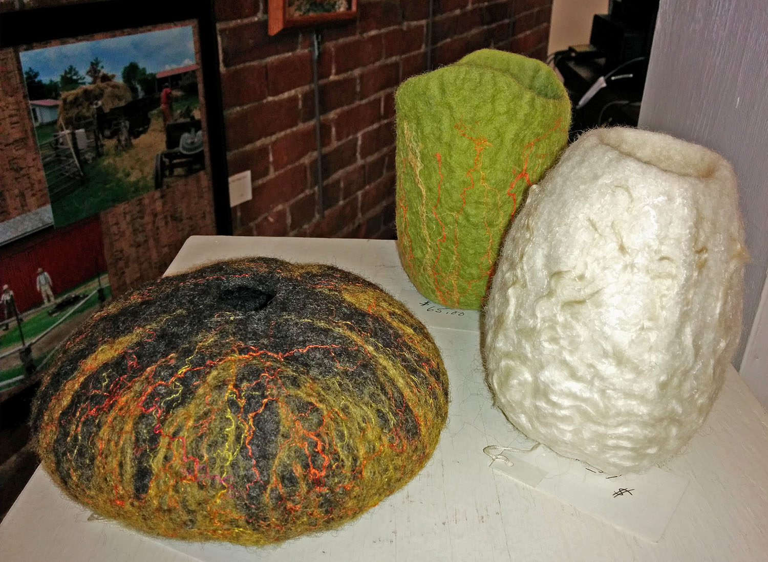 felted vessels by Chris Lang