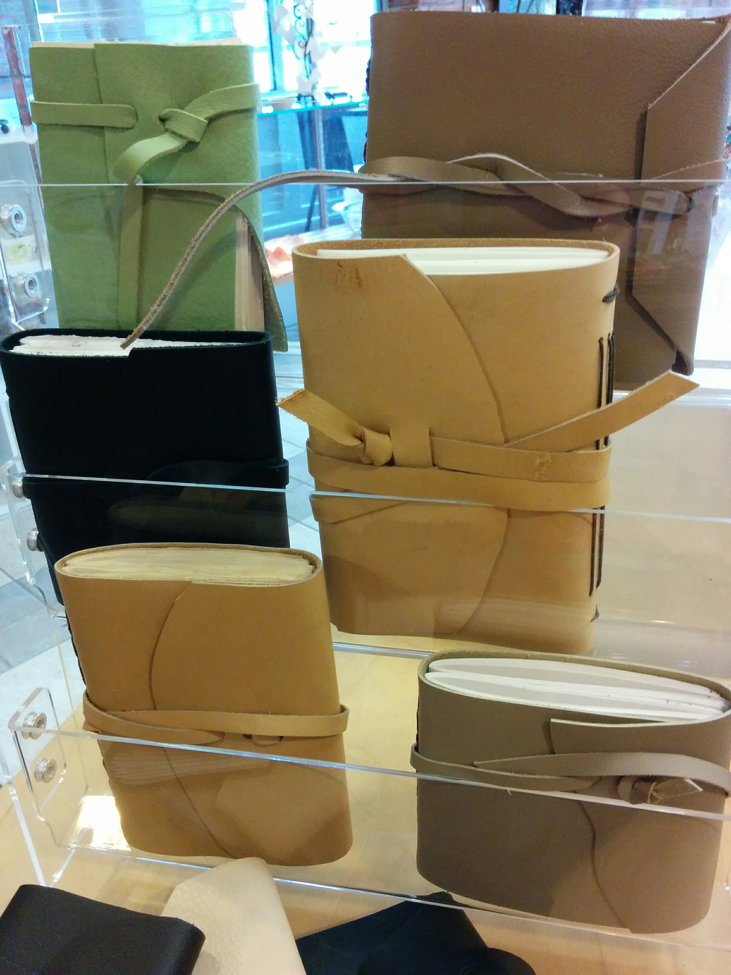 leather journals by Susan Kamps