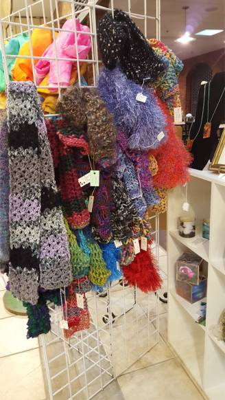 scarves by local artists