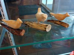 carved birds by Carol Elder