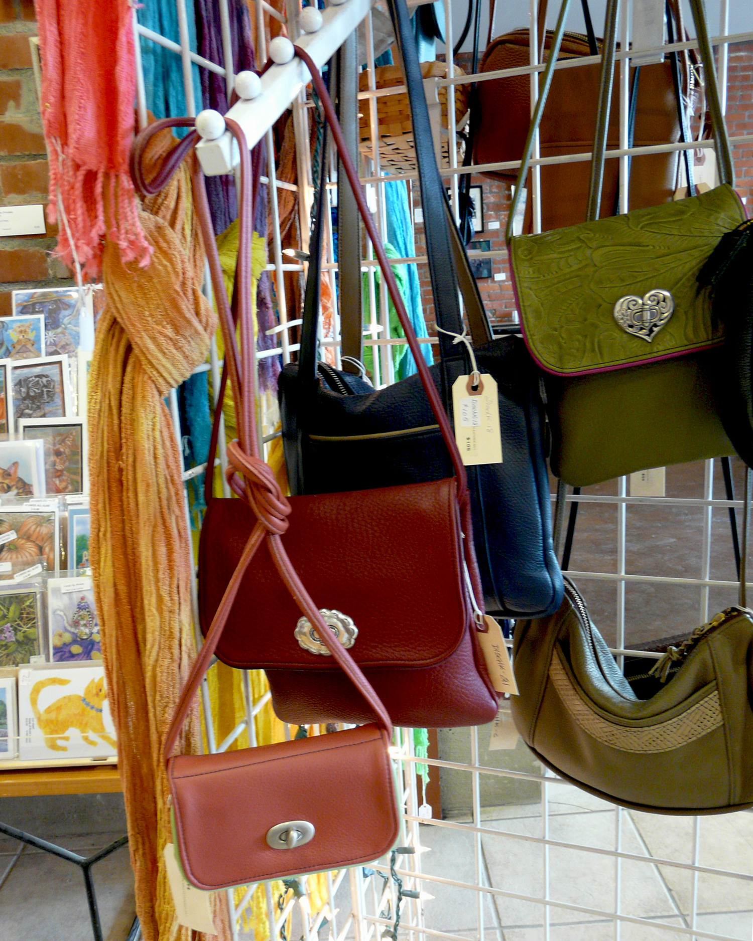 leather purses by Kate Disch