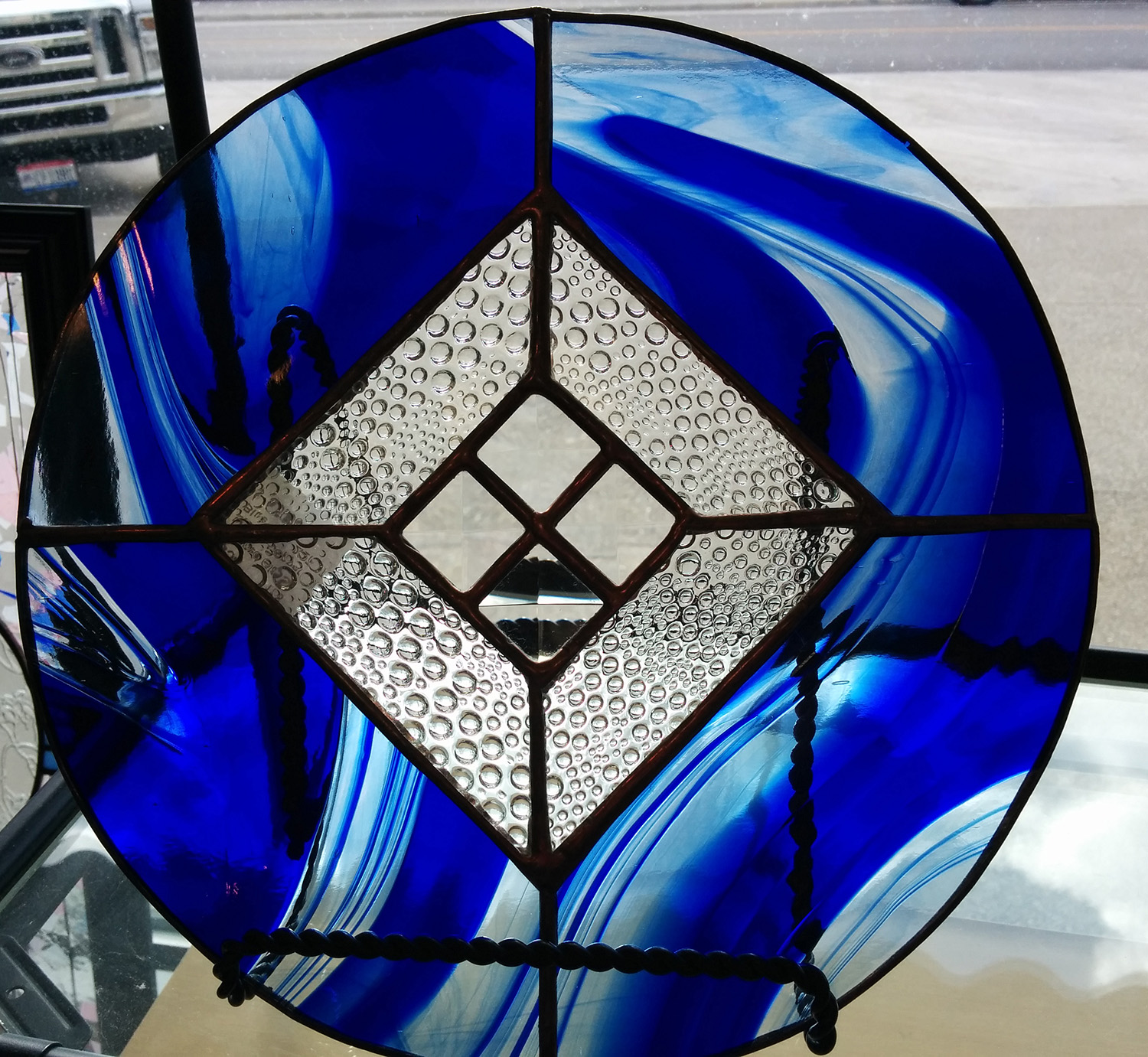 stained glass by Chuck Borsari