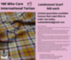 Lambswool Scarfs for sale in the 100 Who Care International Tartan