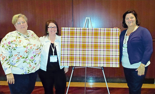 Patty & Jane assisted Deana Lloy with the tartan unveiling, sisters of Karen Dunigan the founder of the 100 Who Care Organization