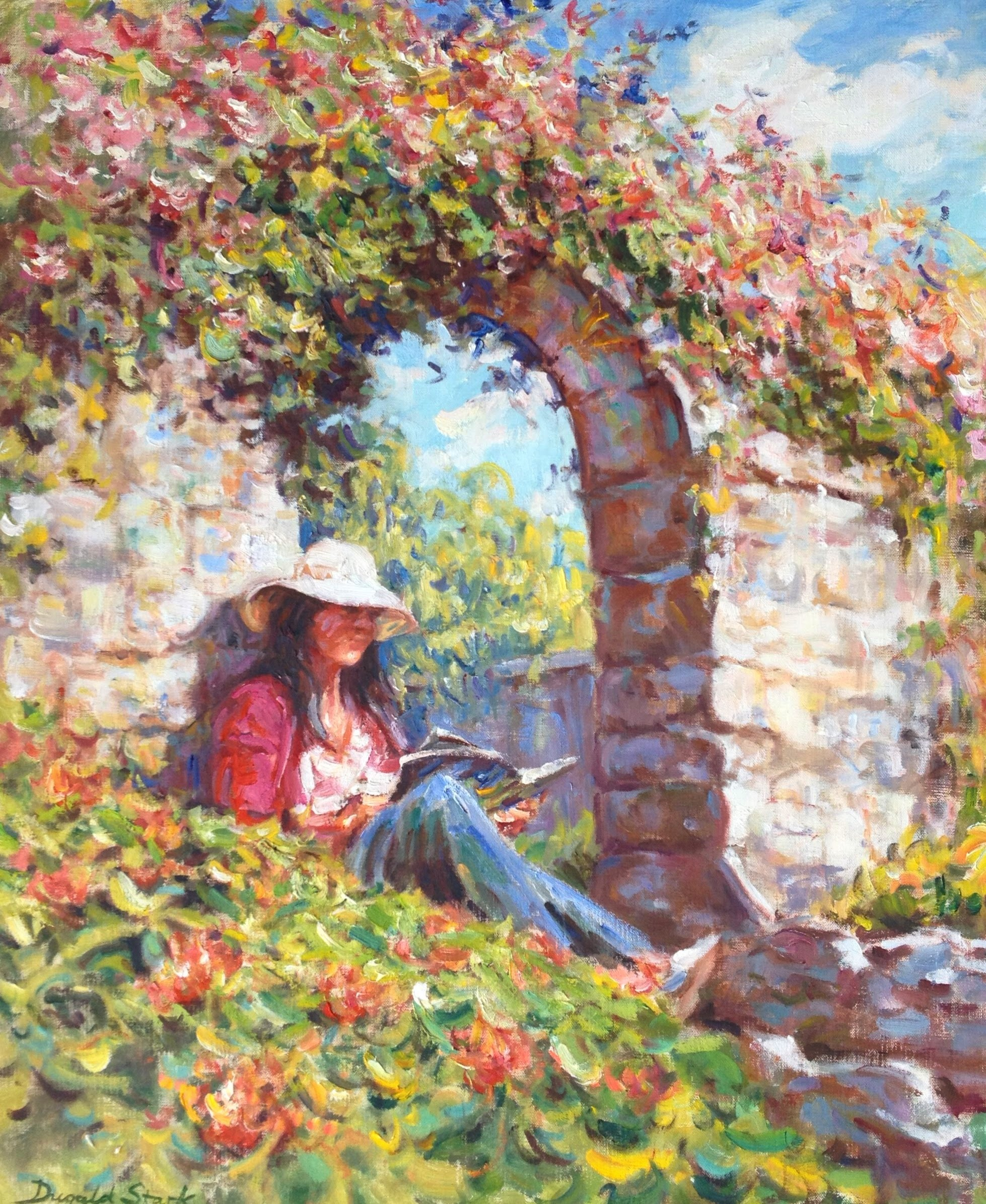 Reading by the Archway