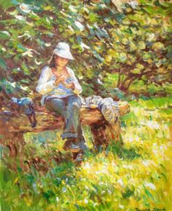 At Pencarrow, Sun on the Grass