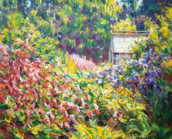 Up to the Greenhouse, July. 60x73cms
