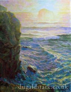 Cliff at Trebarwith, Evening