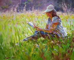 Reading in the Meadow