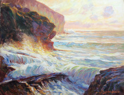 Trebarwith, Evening by the Gulley